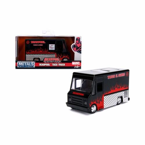 Jada 30864 Deadpool Taco Truck Black Marvel Series 1-32 Diecast Model Perspective: front