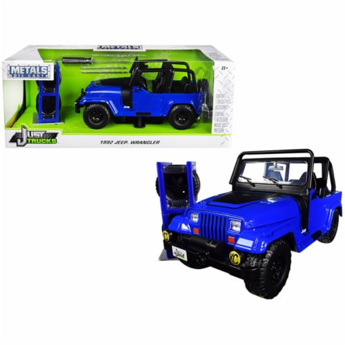 Jada 31059 1992 Jeep Wrangler with Extra Wheels Just Trucks Series 1 by 24 Diecast Model Car, Perspective: front