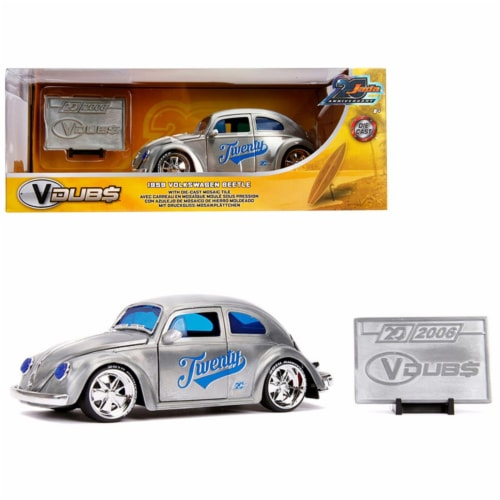 Jada 31083 1959 Volkswagen Beetle Twenty Metal Raw VDubs Jada 20th Anniversary 1 by 24 Diecas Perspective: front