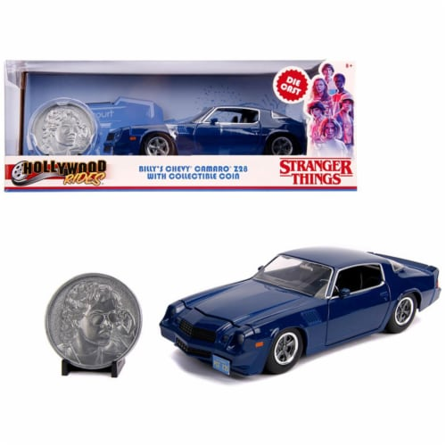 Jada 31110 Billys Chevrolet Camaro Z28 with Collectible Coin Stranger Things TV Series 1 by 2 Perspective: front