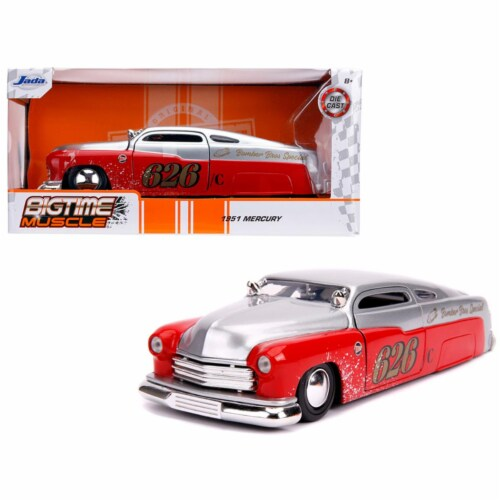 Jada 31454 1951 Mercury Silver & Red No.626 Holley Bomber Bros Special Bigtime Muscle 1 by 24 Perspective: front