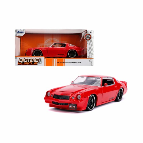 Jada 31458 1979 Chevrolet Camaro Z28 Bigtime Muscle 1 by 24 Diecast Model Car, Glossy Red Perspective: front