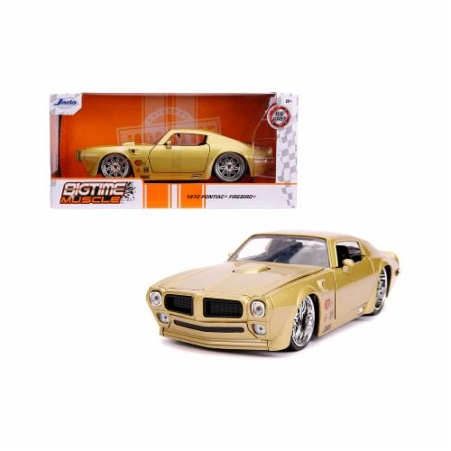 Jada 31459 1972 Pontiac Firebird Gold Metallic Hooker Bigtime Muscle 1 by 24 Diecast Model Ca Perspective: front