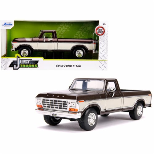 Jada 31588 1979 Ford F-150 Pickup Truck Stock Brown Metallic & Cream Just Trucks 1 by 24 Diec Perspective: front
