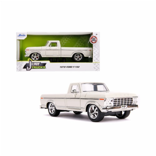 Jada 31589 1979 Ford F-150 Pickup Truck Stock Cream Just Trucks 1 by 24 Diecast Model Car Perspective: front