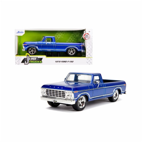 Jada 31597 1979 Ford F-150 Pickup Truck Stock Candy Blue Just Trucks 1 by 24 Diecast Model Ca Perspective: front