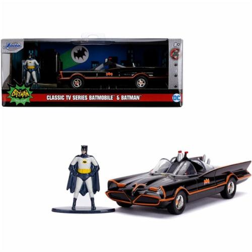 Jada 31703 1966 Batmobile with Diecast Batman Figurine Batman 1966-1968 Classic TV Series DC Perspective: front