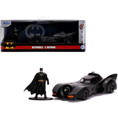 Jada 31704 1989 Batmobile with Diecast Batman Figurine Batman 1989 Movie DC Comics Hollywood Perspective: front