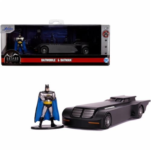 Jada 31705 Batmobile with Diecast Batman Figurine Batman - The Animated Series 1992-1995 TV S Perspective: front