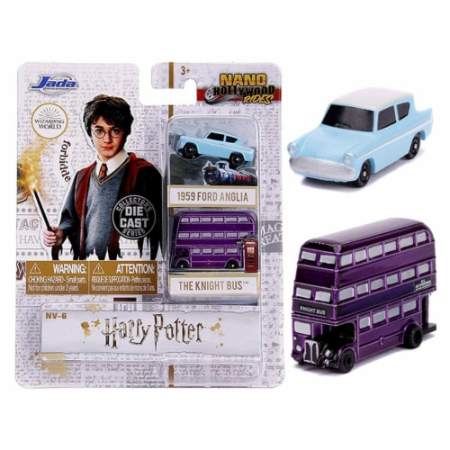 Jada 31719 Harry Potter 2 Piece Set Nano Hollywood Rides Diecast Models Perspective: front