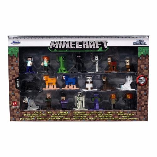 Jada Toys Nano Metalfigs Minecraft Wave 5 Set Of 20 Diecast Mini Figures Perspective: front