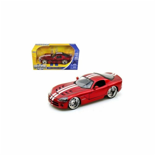 Jada 91803r 2008 Dodge Viper SRT10 Metallic Red 1-24 Diecast Model Car Perspective: front
