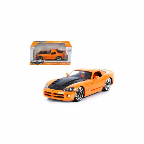 Jada 96805or 2008 Dodge Viper SRT10 Orange 1-24 Diecast Car Model Perspective: front