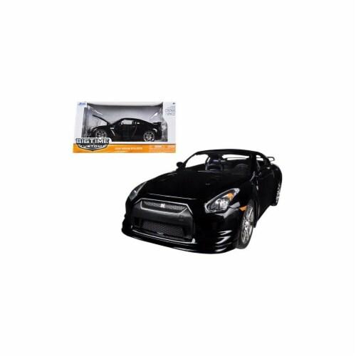 Jada 96811bk 2009 Nissan GT-R R35 Black 1-24 Diecast Car Model Perspective: front