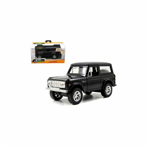 Jada 97050 1973 Ford Bronco Black 1-32 Diecast Model Car Perspective: front
