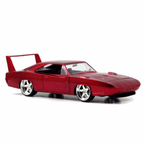 Jada 97060 1969 Dodge Charger Daytona Red Fast & Furious 7 Movie 1-24 Diecast Model Car Perspective: front