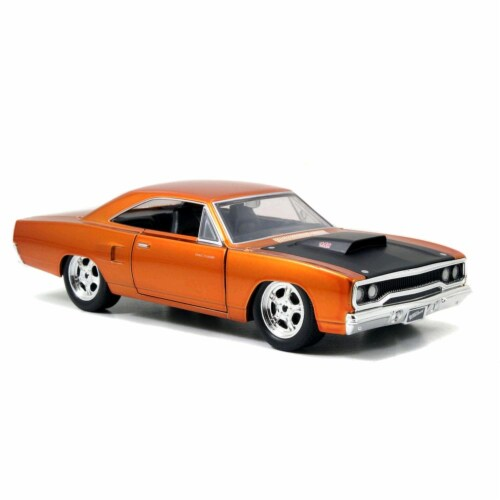 Jada 97126 Doms 1970 Plymouth Road Runner Copper Fast & Furious 7 Movie 1-24 Diecast Model Ca Perspective: front