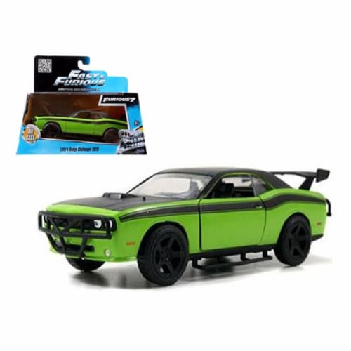 Letty\'s Dodge Challenger SRT8 \Fast & Furious 7\ Movie 1/32 Diecast Model Car by Jada Perspective: front