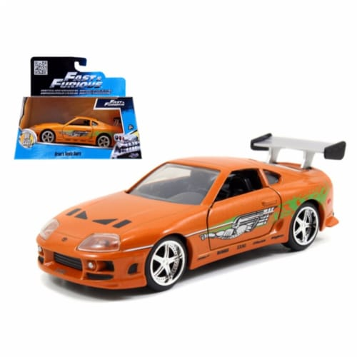 Brian\'s Toyota Supra Orange \Fast & Furious\ Movie 1/32 Diecast Model Car by Jada Perspective: front