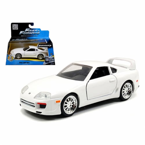 """Brian\'s Toyota Supra White \Fast & Furious 7\ Movie 1/32 Diecast Model Car by Jada """""""""""" Perspective: front"""