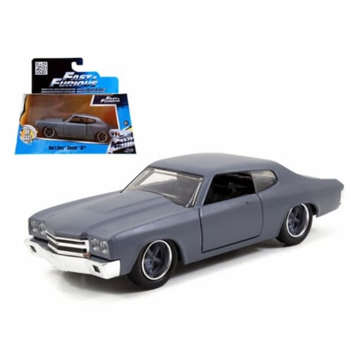 Jada 97379 Doms Chevrolet Chevelle SS Primer Grey Fast & Furious Movie 1-32 Diecast Model Car Perspective: front
