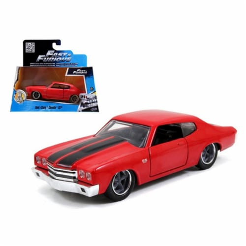 Jada 97380 Doms Chevrolet Chevelle SS Red Fast & Furious Movie 1-32 Diecast Model Car Perspective: front
