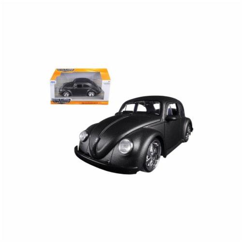 Jada 97490 1959 Volkswagen Beetle Satin Metallic Gray with 5 Spoke Wheels 1-24 Diecast Model Perspective: front