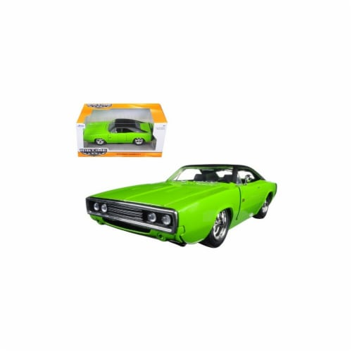 Jada 97595grn 1970 Dodge Charger R & T Green 1-24 Diecast Model Car Perspective: front