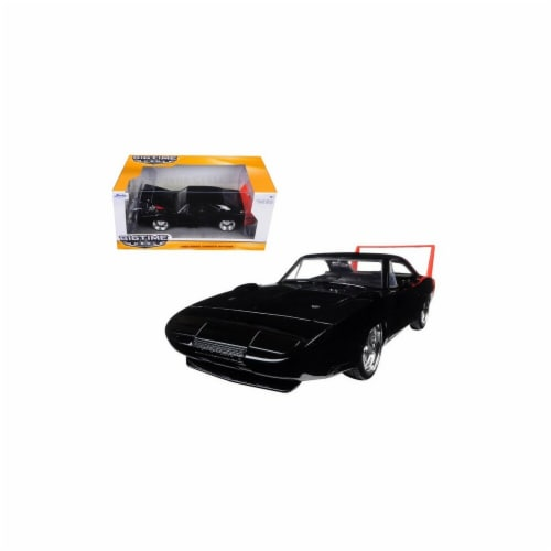 Jada 97681 1969 Dodge Charger Daytona Black 1-24 Diecast Model Car Perspective: front