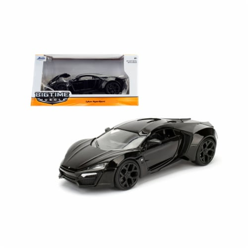 Jada 98074 1 by 24 Scale Diecast Lykan Hypersport Glossy Black Model Cars Perspective: front
