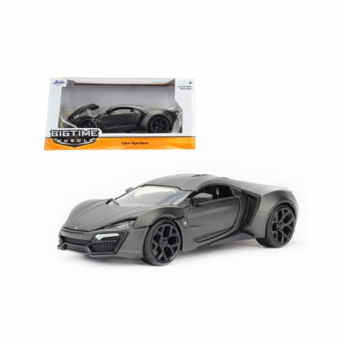 Jada 98075 1 by 24 Scale Diecast Lykan Hypersport Primer Gray Model Car Perspective: front