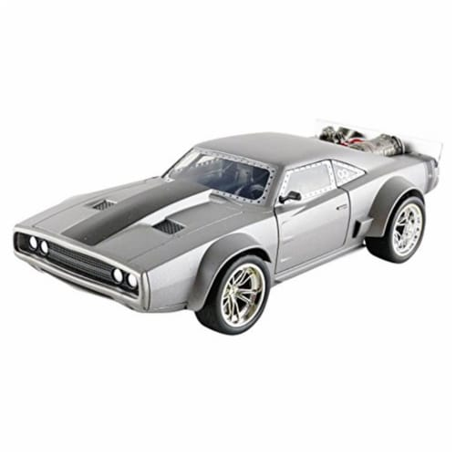 Jada Toys 98291 Doms Ice Charger Vehicle Model Car Perspective: front