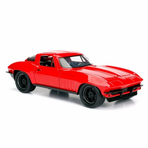 Jada 98298 Lettys Chevrolet Corvette Fast & Furious F8, 1 by 24 Diecast Model Car Perspective: front