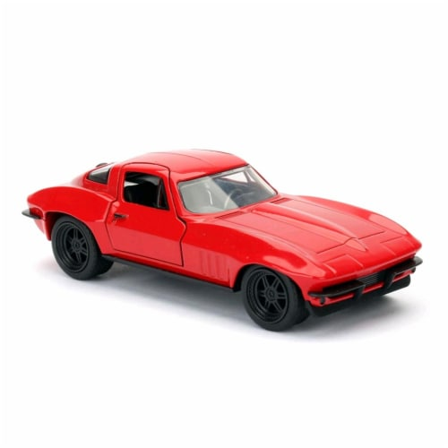 Jada 98306 Lettys Chevrolet Corvette Fast & Furious F8, 1 by 32 Diecast Model Car Perspective: front