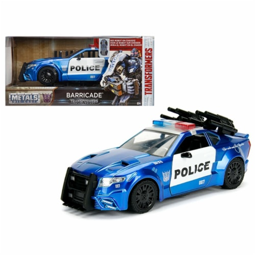 Jada Toys 98400 1 isto 24 Barricade Custom Police Car From Transformers Movie Diecast Model C Perspective: front