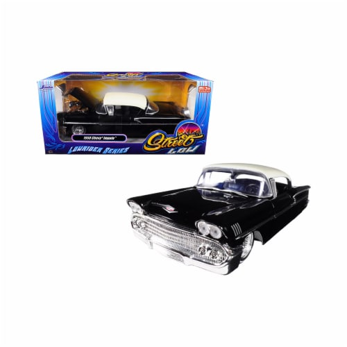 Jada Toys 98919 1 isto 24 1958 Chevrolet Impala Lowrider Series Street Low Diecast Model Car, Perspective: front