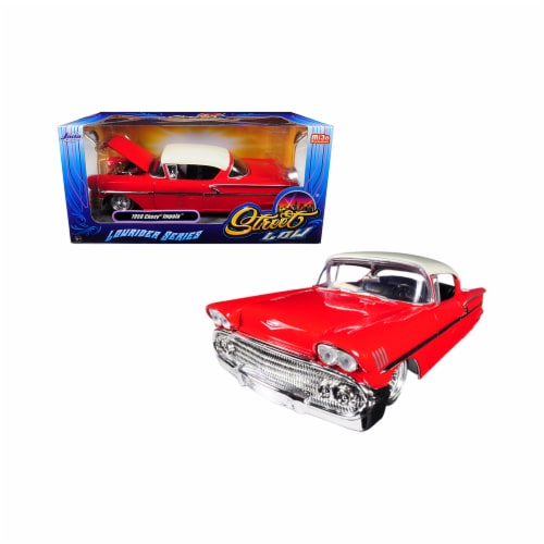 Jada Toys 98920 1 isto 24 1958 Chevrolet Impala Lowrider Series Street Low Diecast Model Car, Perspective: front