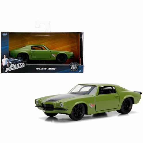 Jada 99521 Doms 1973 Chevrolet Camaro F-Bomb Green Fast & Furious Movie 1-32 Diecast Model Ca Perspective: front