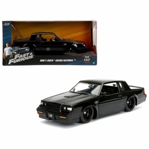 Jada Toys 99539 1 isto 24 Doms Buick Grand National Fast & Furious Movie Diecast Model Car, B Perspective: front