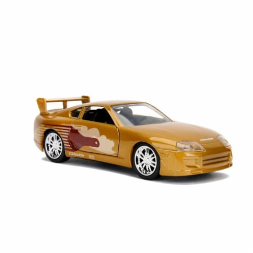 Jada 99542 Slap Jacks Toyota Supra Gold Fast & Furious Movie 1-32 Diecast Model Car Perspective: front