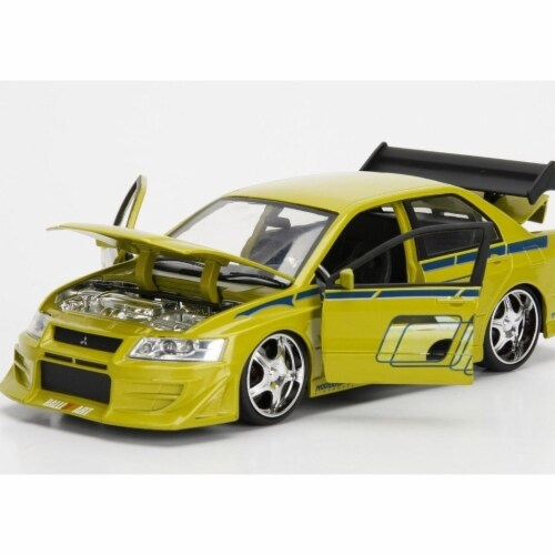 Jada 99788 Brians Mitsubishi Lancer Evolution VII The Fast and the Furious Movie 1 by 24 Diec Perspective: front