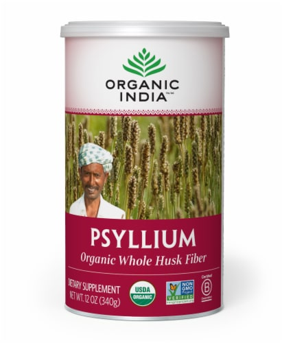 Organic India Whole Husk Psyllium Perspective: front