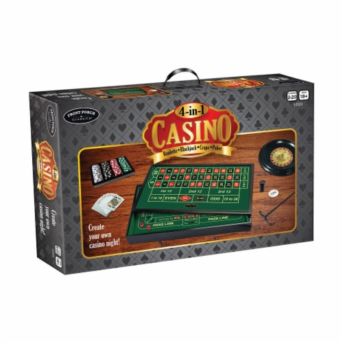 Front Porch Classics 4-in-1 Casino Game Set Perspective: front
