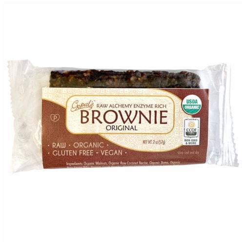Gopal's Organic Raw Alchemy Enzyme Rich Original Brownie Perspective: front