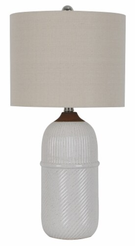 DSI Ribbed Ceramic Table Lamp Perspective: front