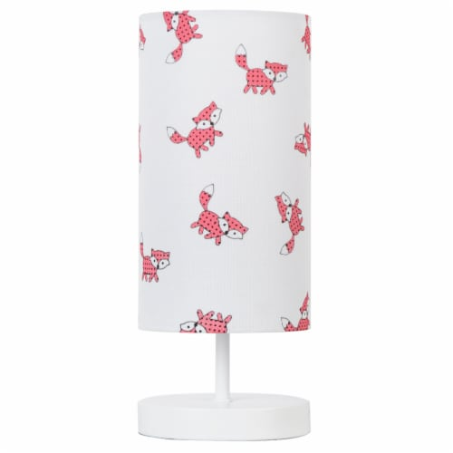 DSI Fox Print Table Lamp - White Perspective: front