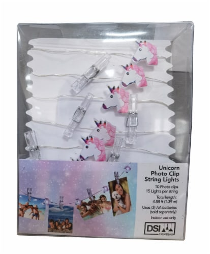 DSI 15 Unicorn Photo Clip String Lights Perspective: front