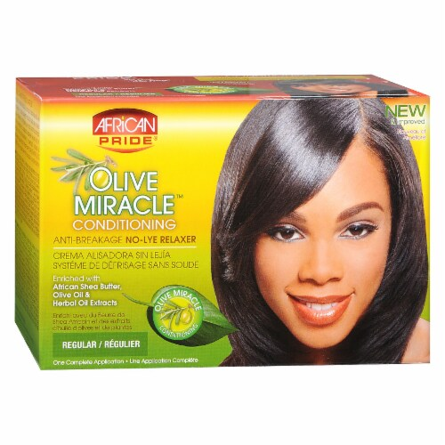 African Pride Olive Miracle Deep Conditioning Anti-Breakage No-Lye Relaxer Perspective: front