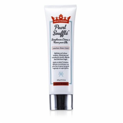 Shaveworks Pearl Souffle Shave Cream 5.3 oz Perspective: front