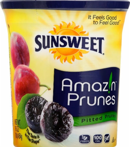 Sunsweet Pitted Prune Canister Perspective: front